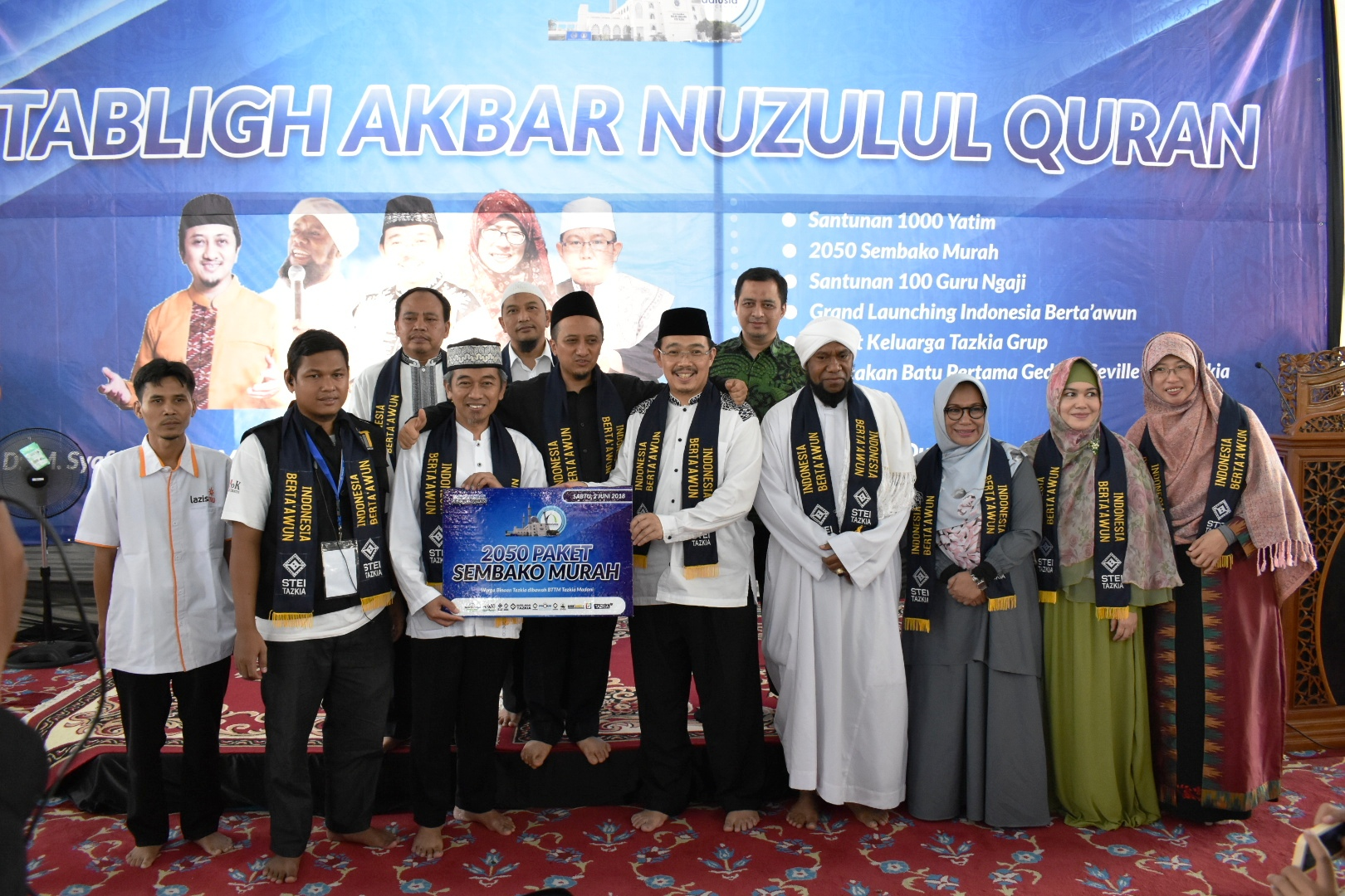 Tabligh Akbar Nuzulul Qur'an Dan Grand Launching Indonesia Berta'awun