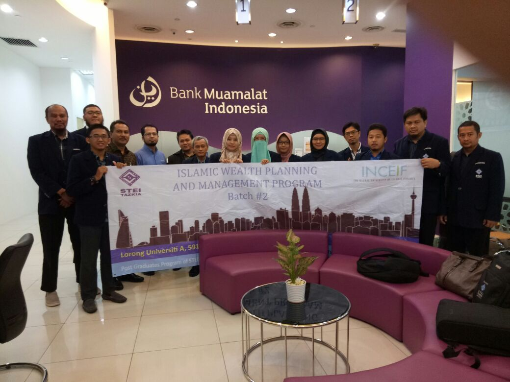 Magister Ekonomi Syariah STEI Tazkia dan INCEIF Malaysia Menyelenggarakan Islamic Wealth Planning and Management Course.