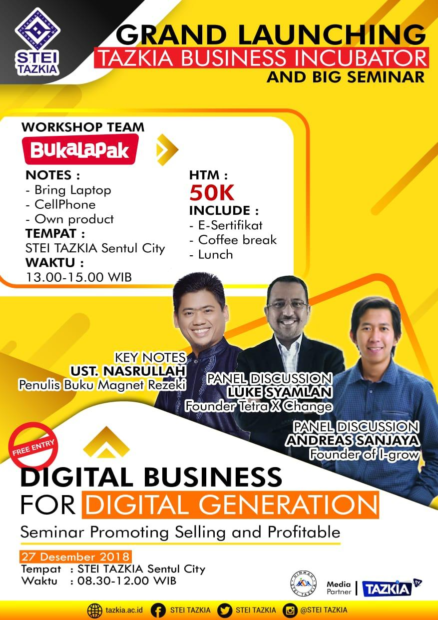 Grand Launching Tazkia Business Incubator